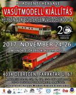 X. Adventi Debreceni Vasútmodell kiállítás