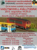 Debreceni, karneváli vasútmodell kiállítás 2013 augusztus 20.